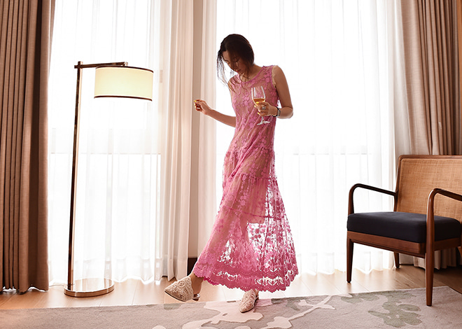 Marianne lace Dress [pink]