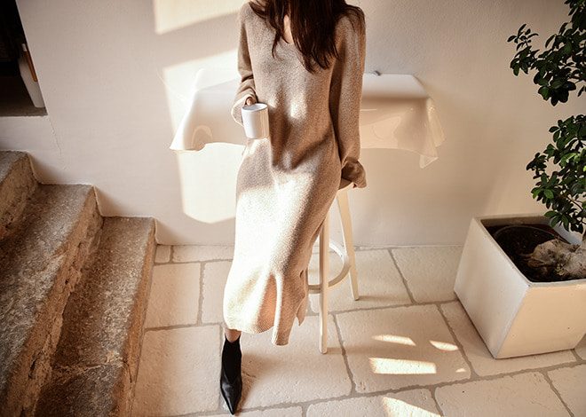 autumn knit dress