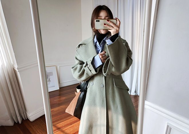 Wide collar coat [hand made]