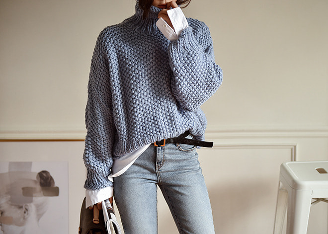 Yann polo-neck  knit