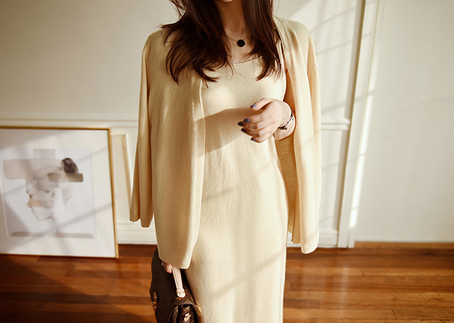 Wool robe cardigan