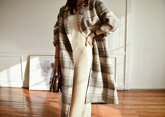 Llama check coat [hand made]