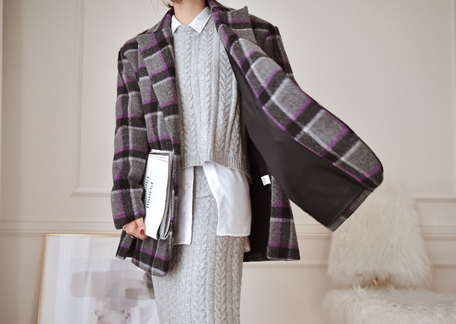 Margaret Check Coat