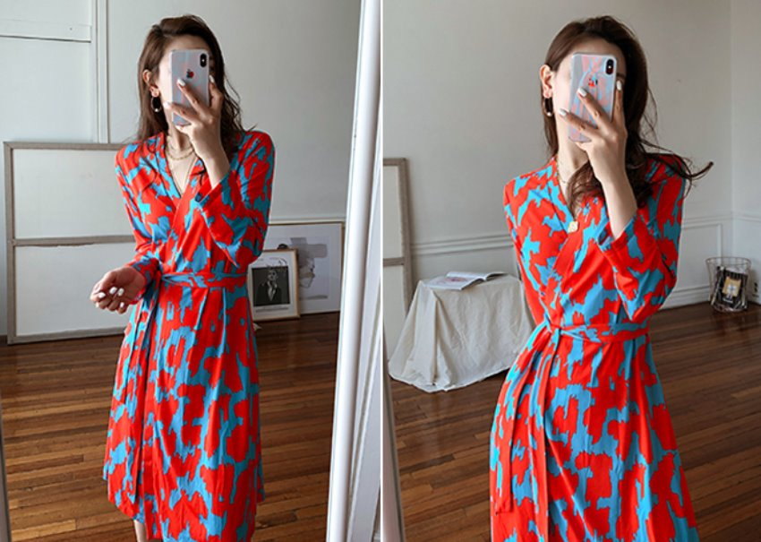 Cindy wrap dress