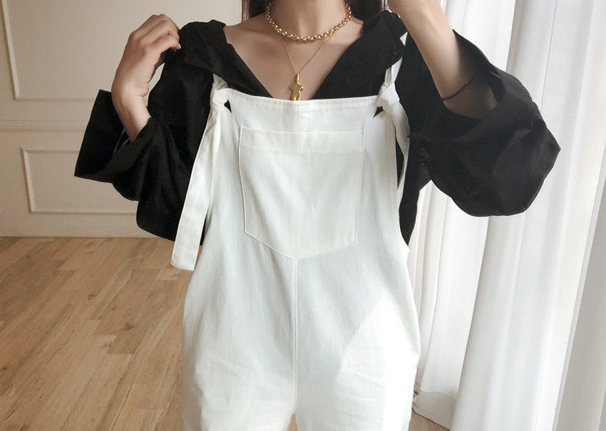 Hooded Button Blouse