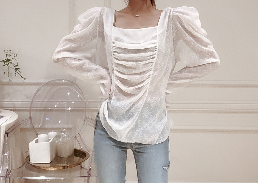 Angelina Shirring Blouse