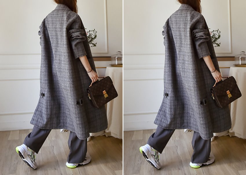 Reversible check coat [hand made]