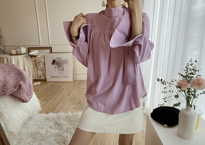 2-way stitch blouse