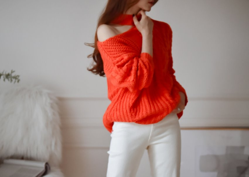 Sophie cutting knit