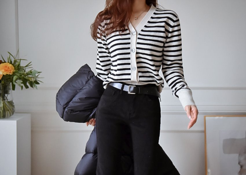 Oatmeal stripe cardigan