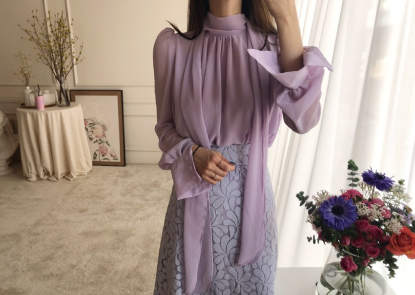 Ali blouse *[Purple]