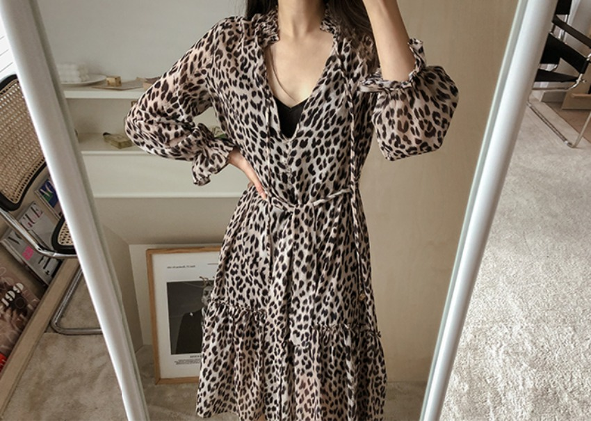 Berna leopard dress