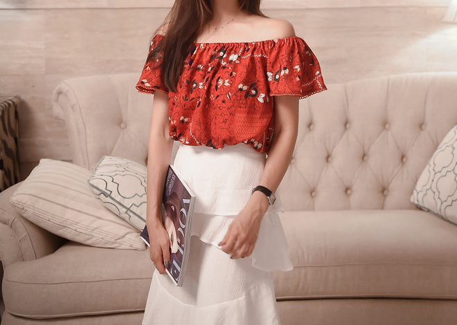 Pansy off shoulder blouse