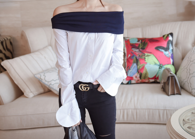 Combi off shoulder blouse