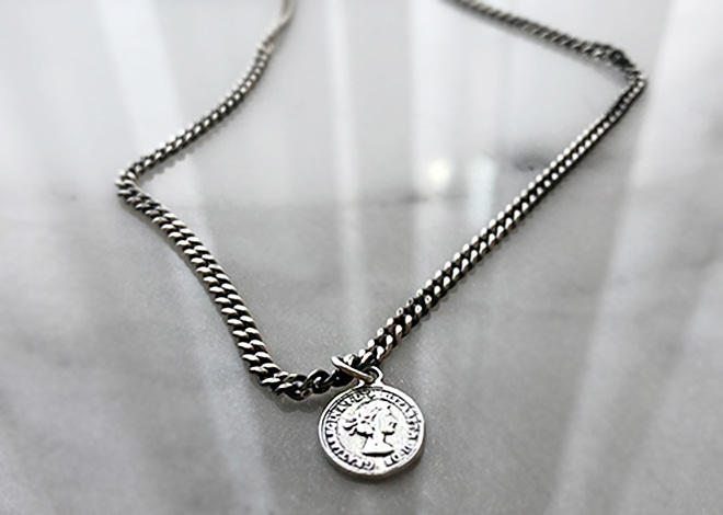 Coin Chain Necklace [silver92.5%]