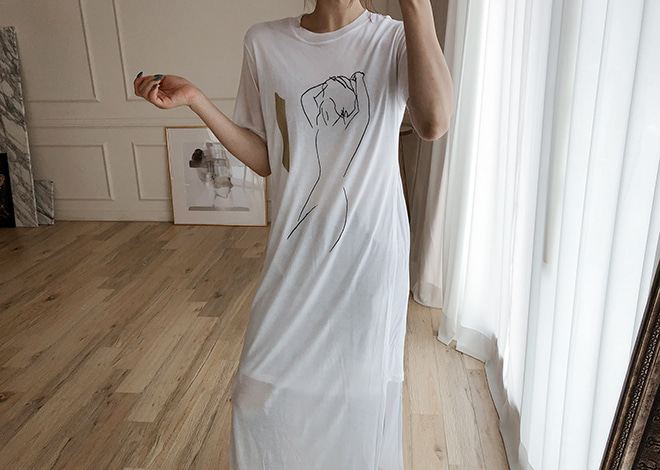 kamin Drawing Dress