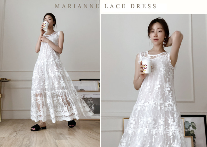 Marianne lace Dress [ivory]