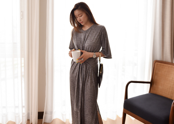 Melange Long Dress