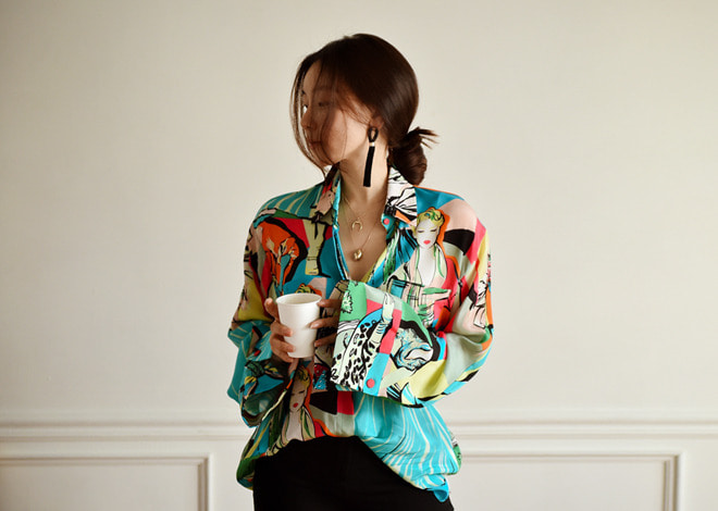 Emilio silk blouse [silk100%]