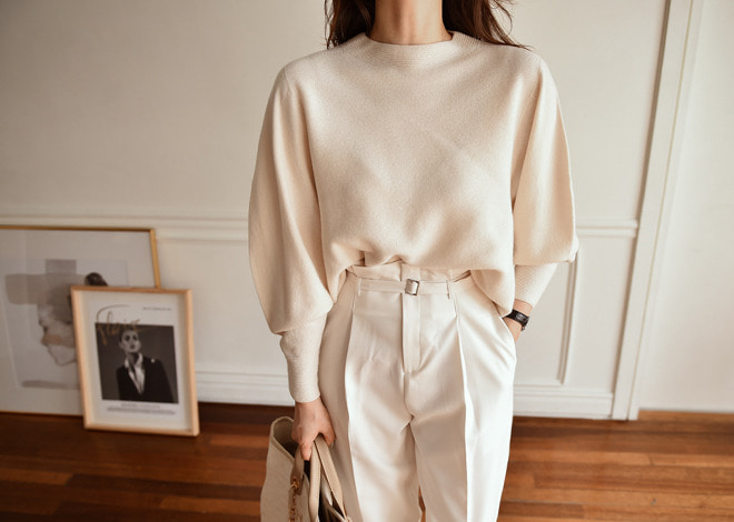 Almond cream knit