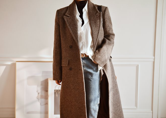 Glen Herringbone coat