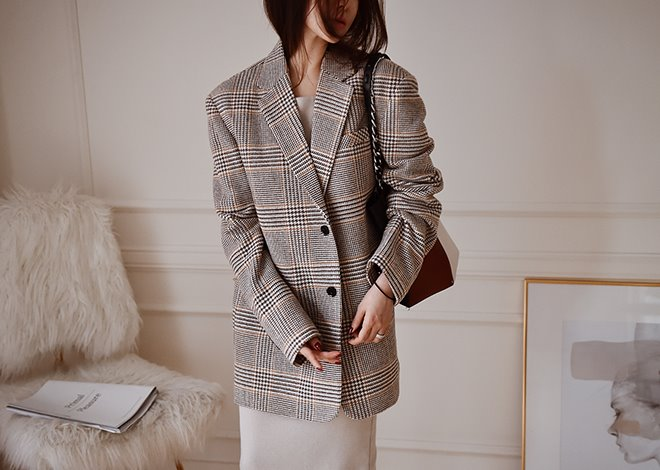 Glorian check jacket