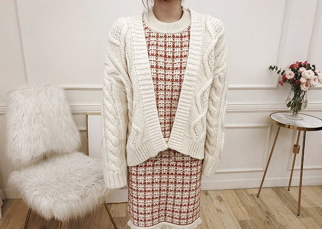 Emma twist cardigan