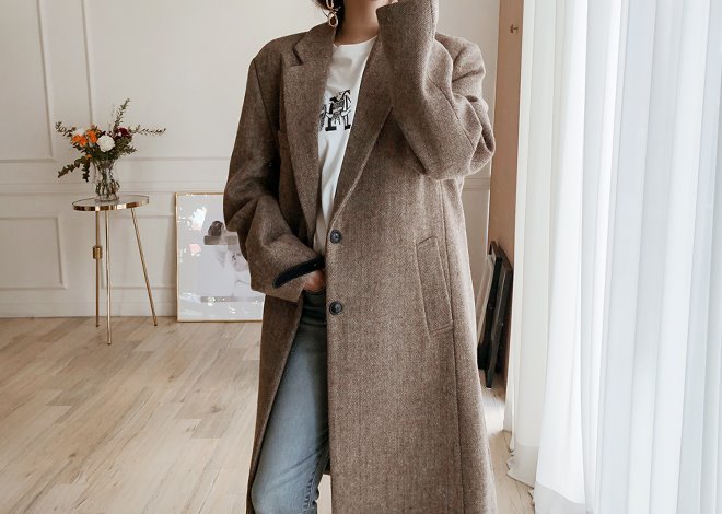 Teg herringbone coat