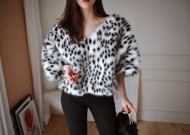 Leopard Fur Top