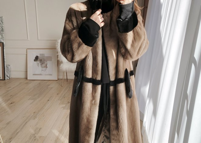 Brondi Long mink coat