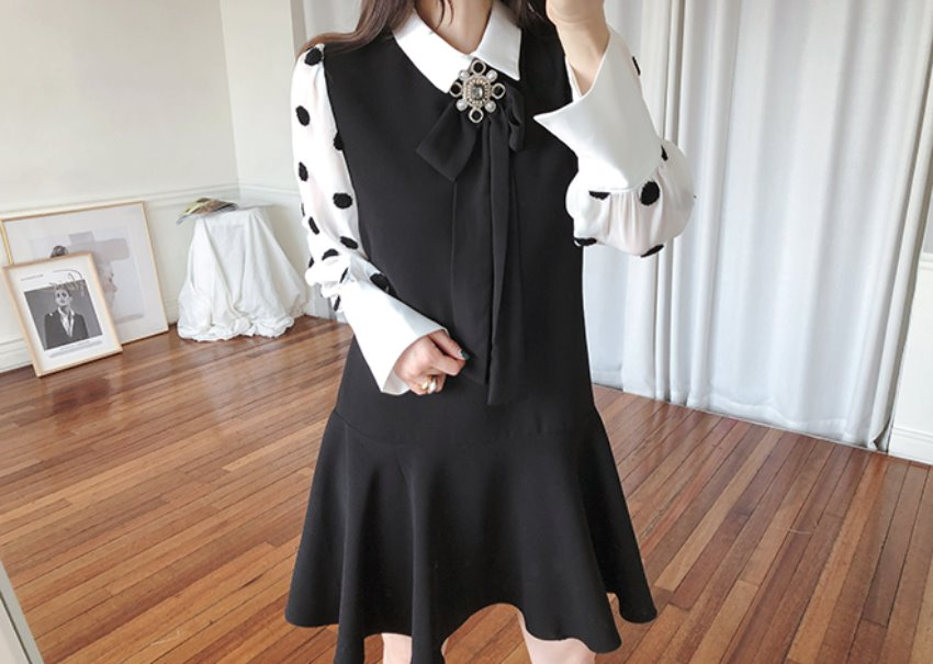 Merlin dot dress