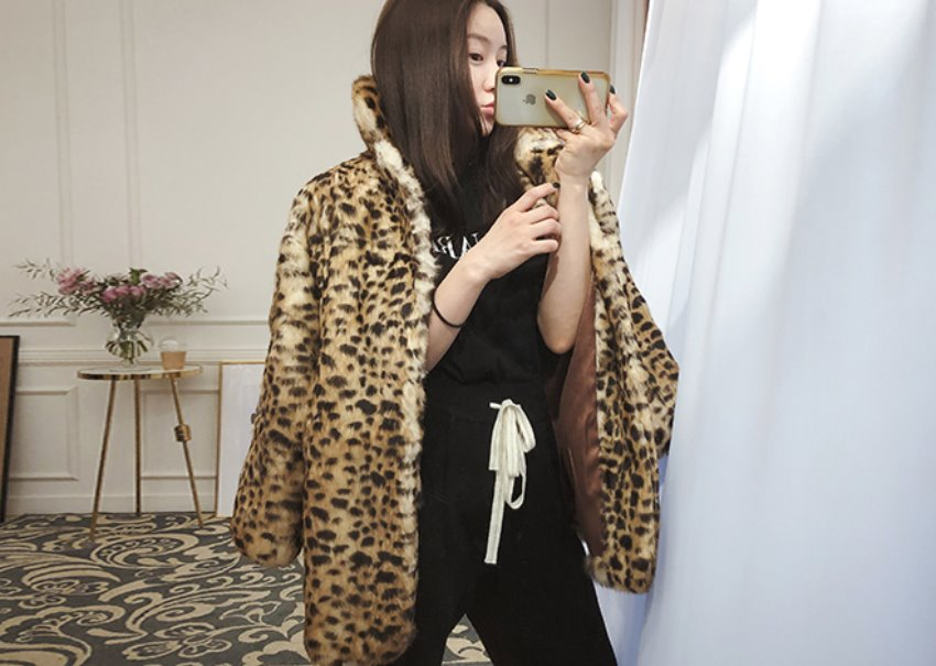 Leopard Rabbit fur