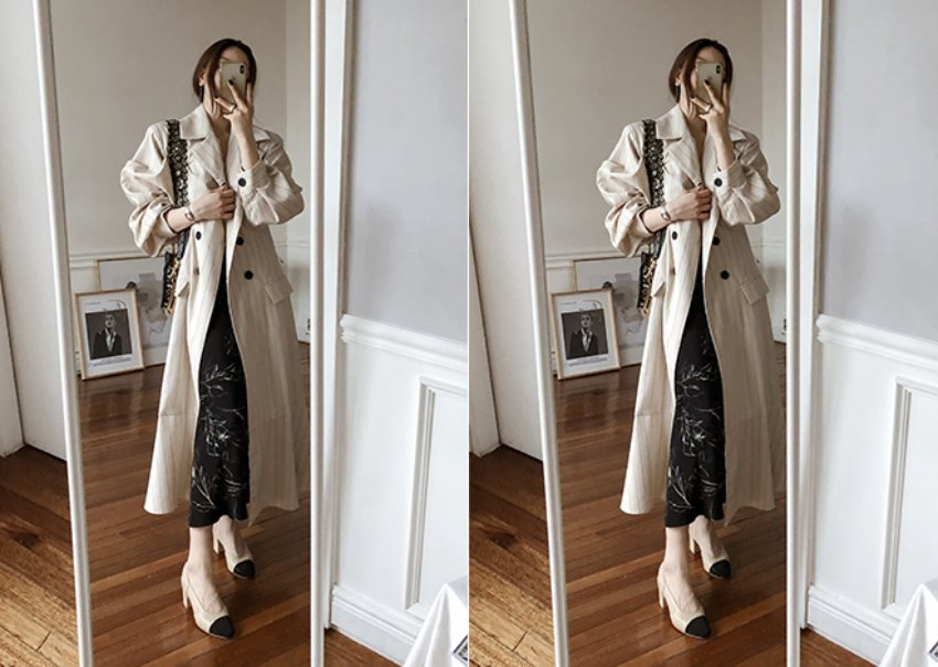 Balloon stripe coat