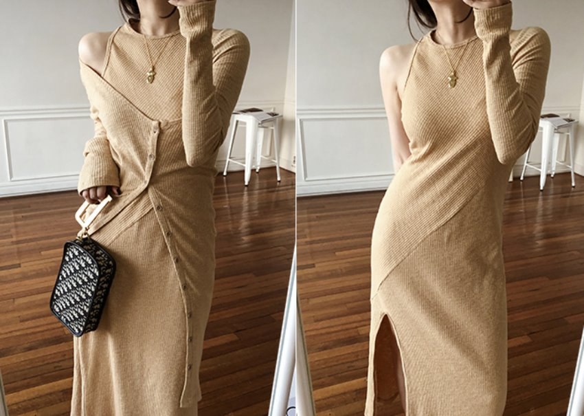 Two-way knit dress