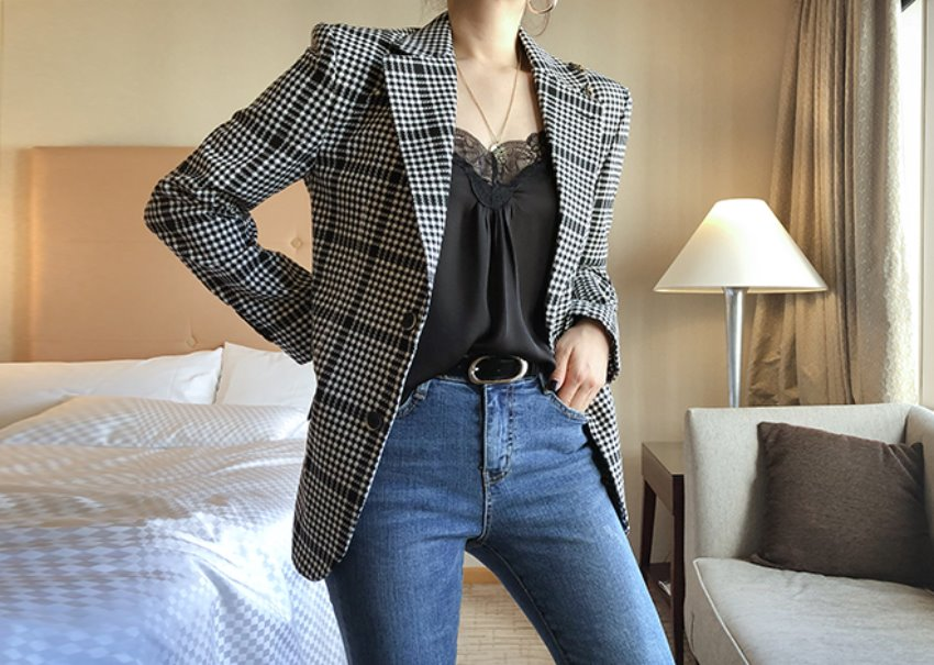 Brunch check jacket