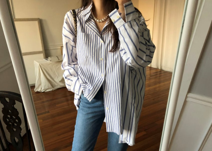 Over mix shirt