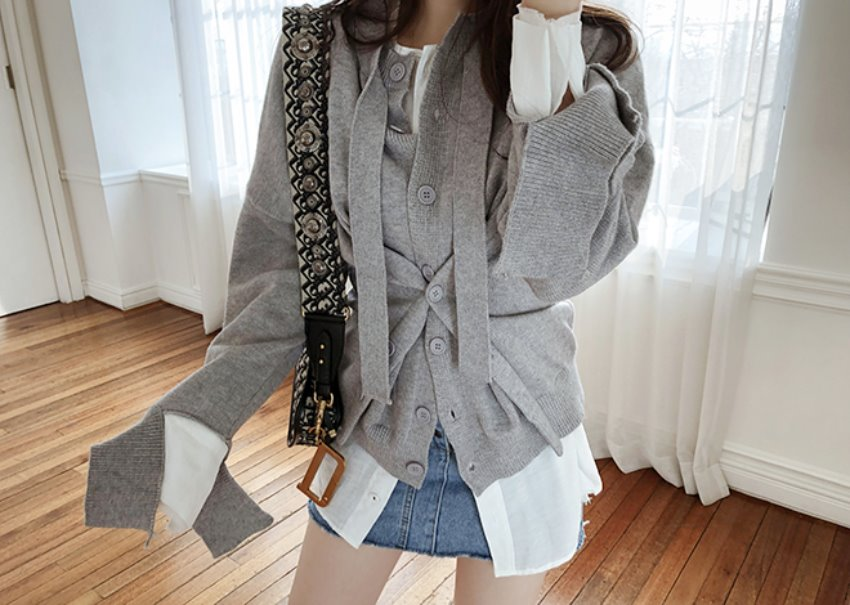 Corset button cardigan*