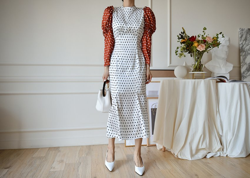 Nella dot dress