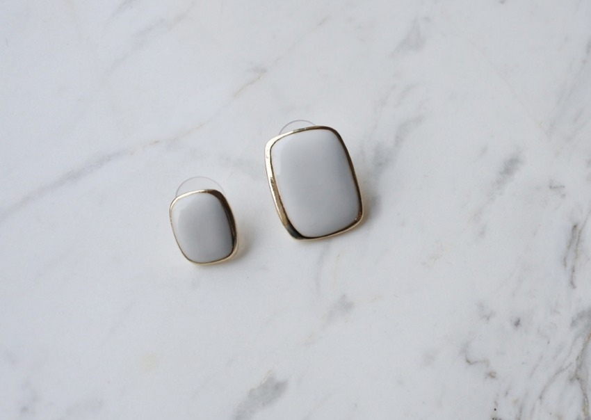 Square Two-piece Earring