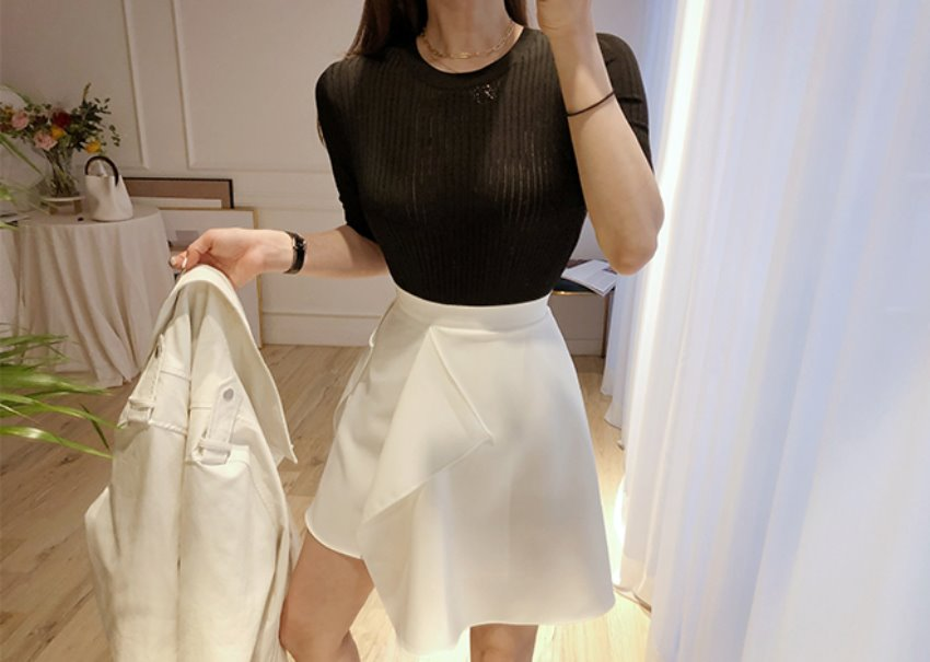 Cutting wrap skirt