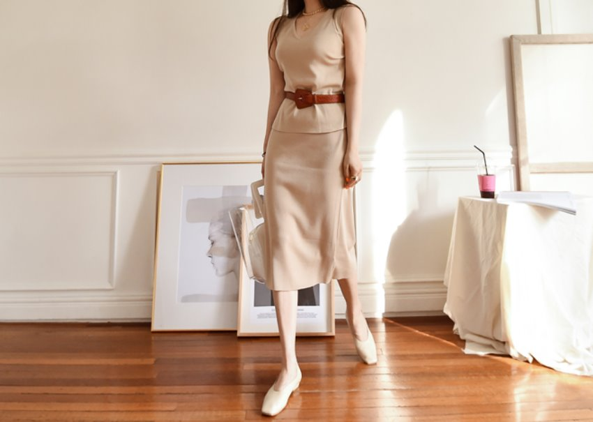 Editor Knit Two-Piece