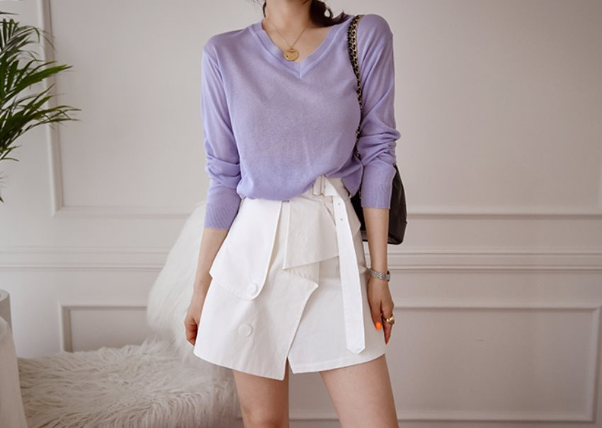 Pastel see-through knit