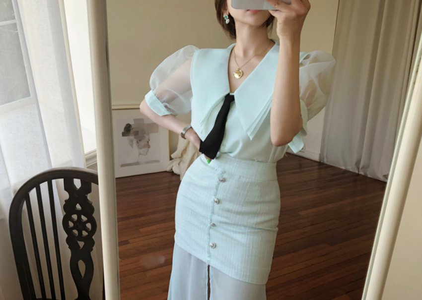 Nori mint blouse