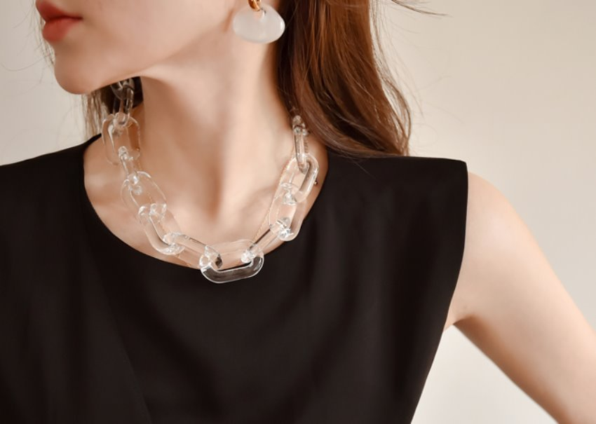 Plexiglass Chunky Necklace