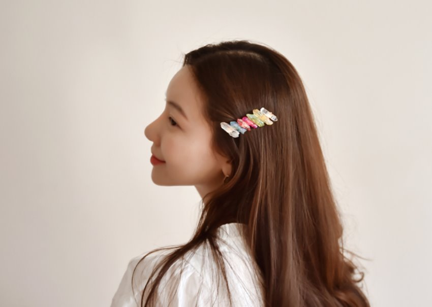 Rainbow crystal Hairpin