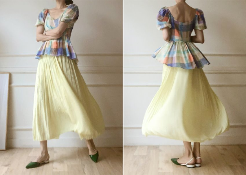 Dronie Pleated Skirt