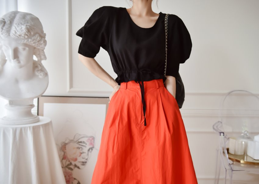 Miumi Crop Blouse *[black]