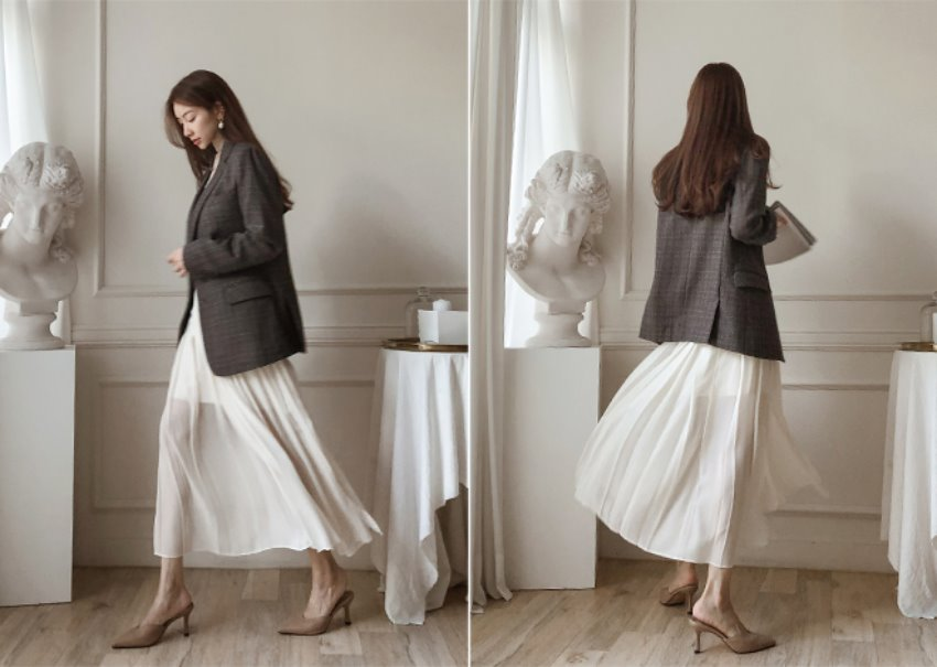 Lova pleats skirt