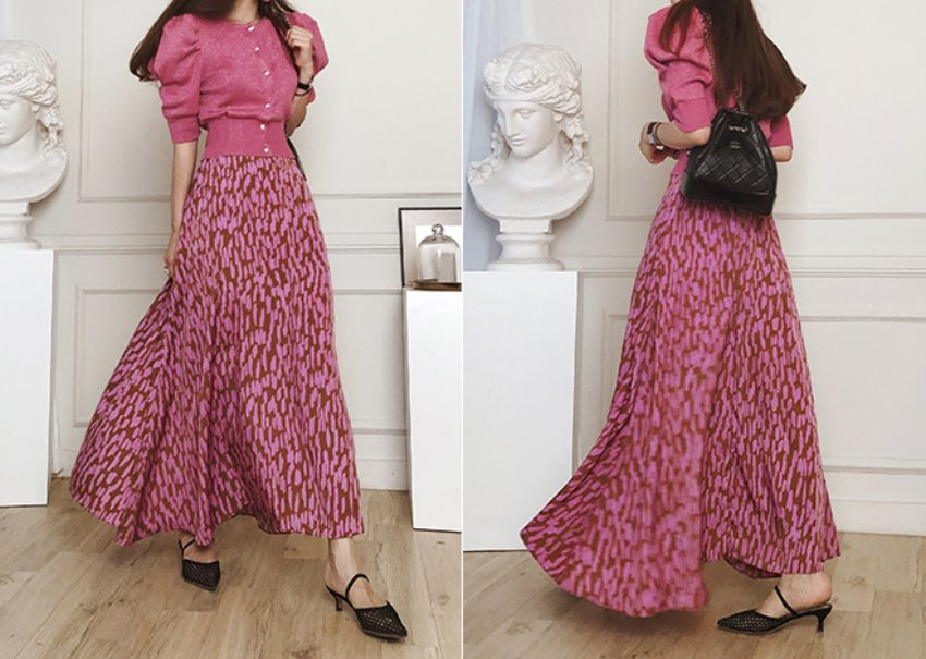 Leopard painting skirt