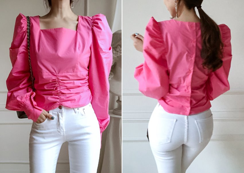 Cello puff blouse